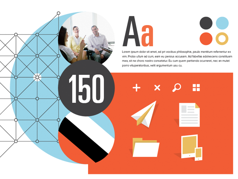Mood Boards Matter moodboard b2b icons flat color pattern commerce