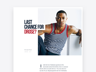 News Article feat. DRose responsive nba basketball slab typography website article news