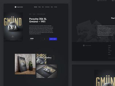 Unique & Limited - GMÜND Special Edition typography design darkui dark minimal webdesign new clean landing page interface ui website poster