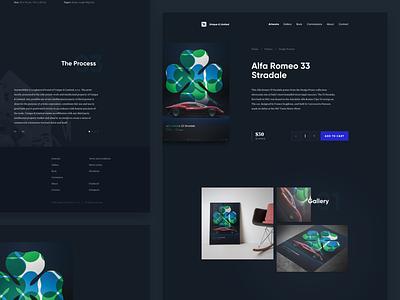 Artwork Landing Page - Alternative Version minimal new web webdesign uidesign poster typography layout photos dark ui website artwork