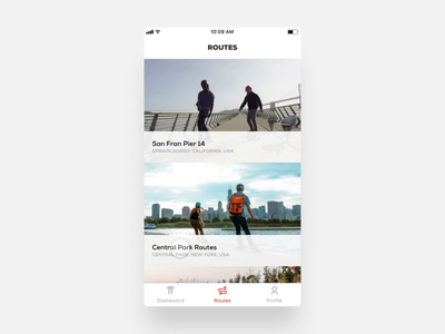 Boosted Boards - Routes boosted boards boosted design layout ux minimal animation clean new ios app ui