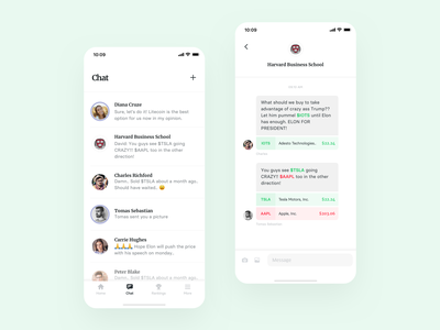 Commonstock - Messaging conversation minimal design chat message messaging clean ux strv typography layout app ios ui