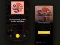 Monocle 24 - Podcast Player strv minimal episodes player ui serif italic podcasts product new typography app ios app ios player podcast