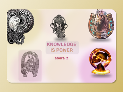 Knowledge is power just share it ui design