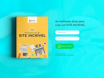 Landing Page for Ebook css php javascript html photoshop user interface user experience gustavo kennedy renkel secnet page ebook landing page