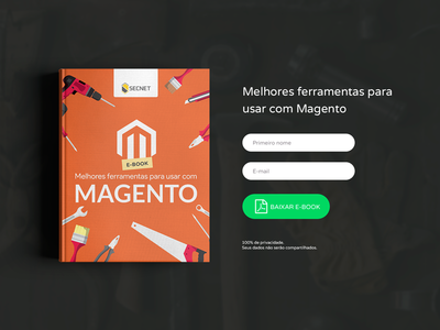 Landing Page for Ebook - Best tools for use with Magento magento user interface user experience secnet photoshop page landing page javascript html gustavo kennedy renkel ebook css