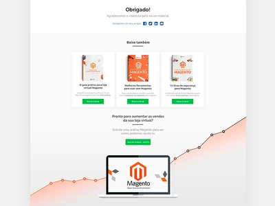 Magento Blog - SECNET - Thank you Landing Page photoshop secnet design user interface landing page magento