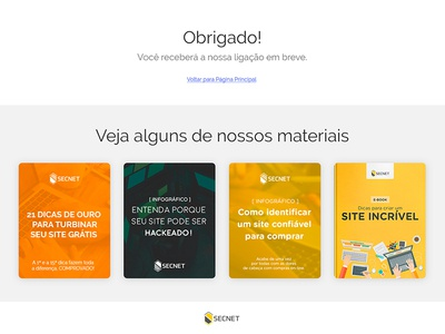 Página Obrigado - Thank you Landing Page page thankyou magento ecommerce lp landing page