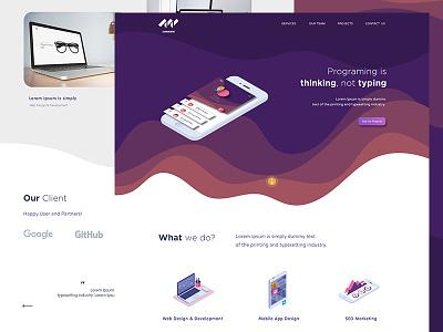 Web and App Developer Landing Page page landing web app