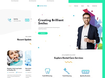Dental Clinic Landing Page clinic web page landing