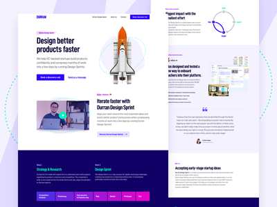 Durran - Agency Website website design homepage user experience ui ux landing page web design user interface agency website website