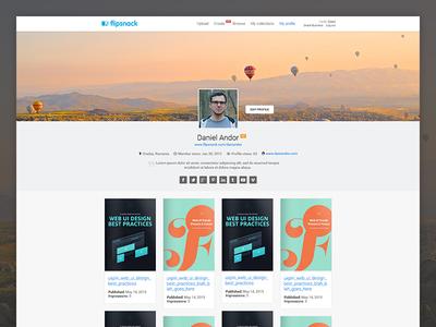 FlipSnack profile design flipsnack interface ux ui website profile