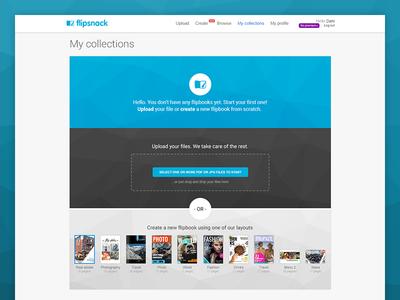 FlipSnack - Empty state empty design flipsnack website interface ux ui