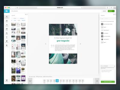 FlipSnack - Content editor interface editor content editor flipsnack ux ui design
