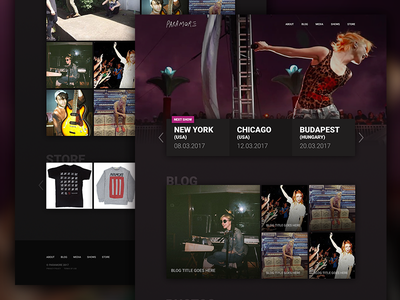Music band website design (concept) homepage web design ux music user interface ui design website band paramore