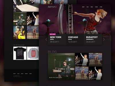 Music band website design (concept)