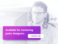 Available for mentoring junior designers