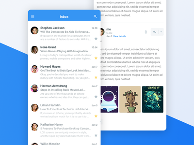 Doky - Email App mobile app mail email user interface ui ux design