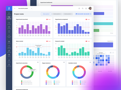 EE - Project Stats app user experience ui user interface ux design dashboard