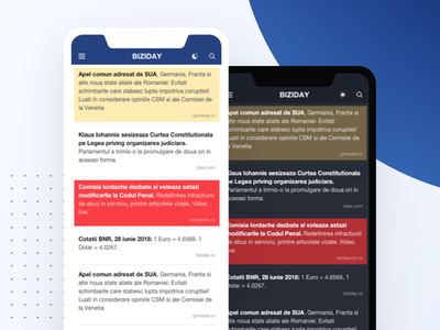 Biziday - unsolicited redesign redesign news ux user interface ui mobile design app