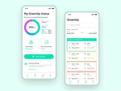 Travel app concept for mindful and eco sensitive travellers