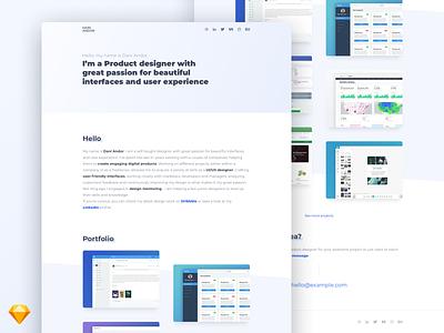 Portfolio / Personal website - Giveaway web design ux ui landing page homepage website user interface portfolio website