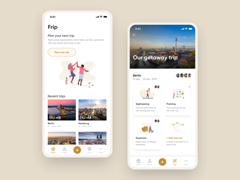 Travel app concept for group travellers mobile app design app user experience user interface ux ui