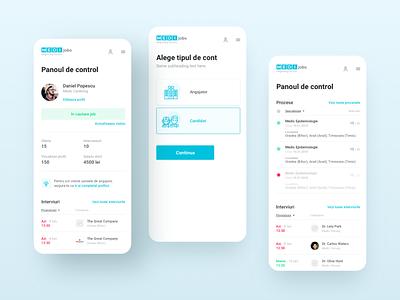 MEDIJobs - Mobile designs user experience user interface web design dashboard website webdesign mobile ux ui