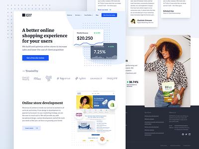 OnTrack - Website design for a digital agency website design web web design landing page user experience homepage website user interface design ux ui