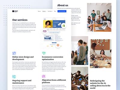 OnTrack - Various pages designer web design landing page user experience homepage website user interface design ux ui