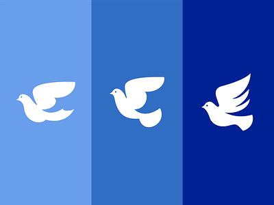 Dove Exploration dove vector concept icon flat logo