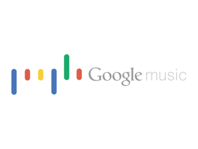 Google music logo redesign concept branding flat icon logo redesign google