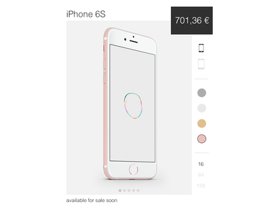 002 - Product Card apple iphone rose iphone 6s iphone 6 e-commerce iphone cart shop product add card