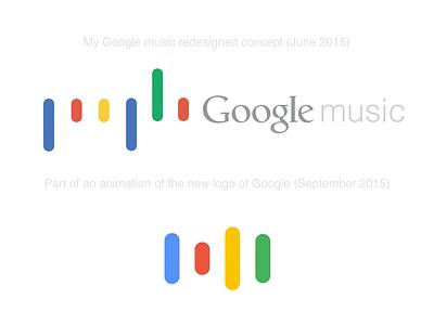 Google music concept Vs. New Google logo music flat concept redesign google