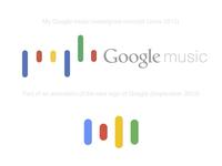 Google music concept Vs. New Google logo