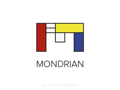 Mondrian Logo identity branding personal logo personal logo colors designer art painter mondrian