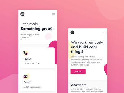 About Us and Contact responsive ruby saeloun about us contact illustration minimal vector vlockn web typography app ux design ui