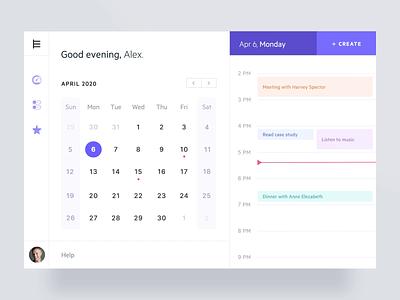 Calendar app interactions design minimal time schedule calendar app interaction animation calendar web app ux ui