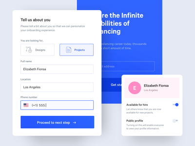 Sign Up Components form app dashboard web onboarding sign up ux ui
