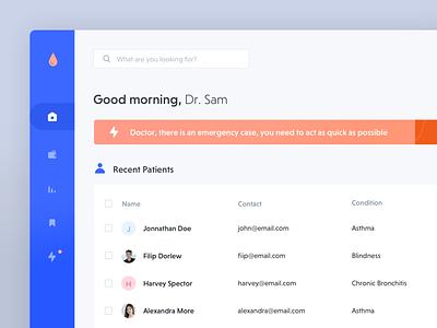 Medical Dashboard ui design components web design ux ui web app medical web app doctor dashboard