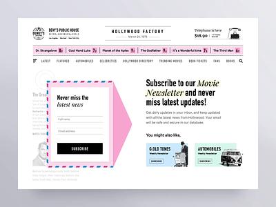 Newsletter Subscription Interaction design newsletters vintage retro ux ui interaction animation website newsletter