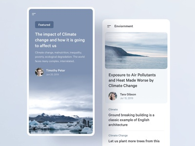 Featured Story minimal app story article news mobile ux ui
