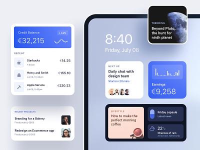 iOS 14 widgets wwdc 2020 wwdc ios-14 ios apple ios 14 ux ui credit card transactions ipad news components fintech widgets ios14 mobile