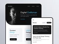 Personal Blog design app components minimal news article blog mobile ux ui