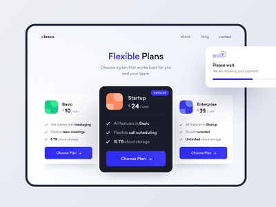 Subscription Plans components subscription fintech pricing website app ux ui