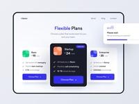 Subscription Plans components subscription fintech pricing website app ux ui