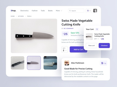 Product Page minimal web ux ui app compnents ecommerce product website