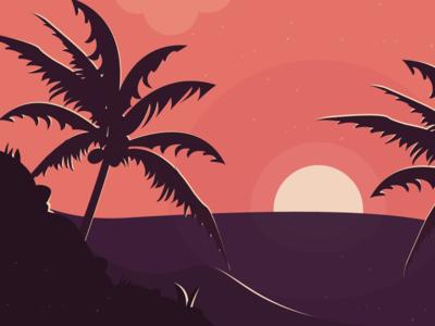 A Sunset Illustration