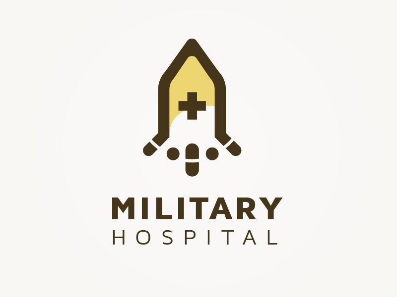 Military Hospital Concept logo abstract medicals hospital military logo concept