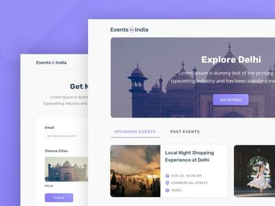 Events in India - Website designs